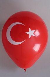 16 Adet Türk Bayrağı Balon Bayrak Kırmızı Beyaz Ay Yıldız Baskılı
