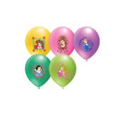 96 Adet Disney Prenses Baskılı Karışık Balon 12inç Ücretsiz Kargo
