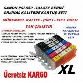 Canon 550 551 Xl 5li Set (Mg5450 Mg6450 Mx925 İx6850)