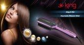 King K 903 Shine Elektrikli Saç Düzleştirici Fırça