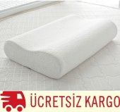 Visco Ortopedik Boyun Yastığı 100 Visko Büyük Boy (60*40 Cm)