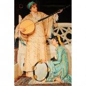 Aker Osmanlı Serisi İki Müzisyen Kız Renk Siyah &amp Mavi Kgak1 627
