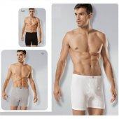 Tutku 3lü Paket Erkek Ribana Paçalı Külot Beyaz