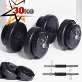 Ecgspor 30kg Dambıl Seti Ağırlık Seti Ağırlık Plakaları Fitness