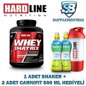 Hardline Whey 3matrix Çikolata 2300 Gr. + 1 Shaker + 2 Carnifit 5