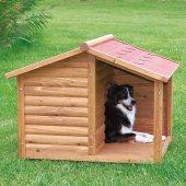 Köpekler İçin Teraslı Ahşap Köpek Kulübesi 130x100x105cm