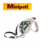 Ferplast Amigo L Tape Asker Desen Otomatik Köpek Gezdirme Kayışı