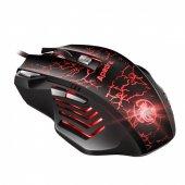 Kablolu Usb Işıklı Oyuncu Mouse 7 Tuşlu Oyun Optik Fare