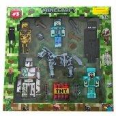 12li Yeni Minecraft Figürleri Seti Mincraft Oyuncakları Özel Yen