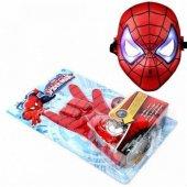 Spiderman Disk Atan Eldiven Sesli Işıklı Oyuncak Maske