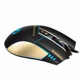Kablolu Usb Işıklı Oyuncu Optik Mouse 7 Tuşlu Oyun Fare 3200dpı