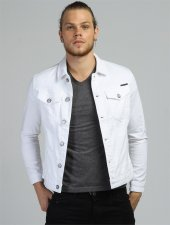 Jack J06 03 Beyaz Kot Ceket
