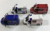 ışıklı Ve Sesli Metal Çek Bırak Araçlar (İtfaiye+polis+jandarma+ambulans)
