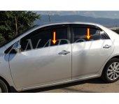 Toyota Corolla Krom Cam Çıtası 4 Parça 2007 2013...