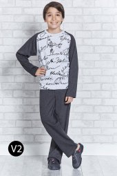 Roly Poly 2115 10 16 Yaş Garson Erkek Çocuk Pijama Takımı