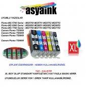 Asyaink Canon Pgı 570, Clı 571 Uyumlu 6 Renk Muadil Kartuş Seti (