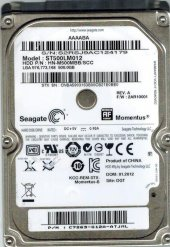 Seagate St500lm012 500gb 5400rpm 8mb 2.5 Sata 6.0gb S Notebook Hd
