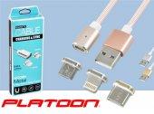 Platoon Pl 8743 3 İn 1 Usb Manyetik Kablo Iphone+m...