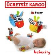 Sozzy 4lü Çıngıraklı Bebek Bileklik Ve Çorap Seti