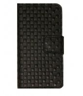 ıphone5 Uyumlu Kare Kabartma Cüzdan Kılıf Siyah