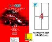 Tanex Tw 2204 Gümüş Etiket