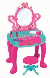 Barbie Piyanolu Güzellik Seti Tabureli Aynalı Işıklı Sesli