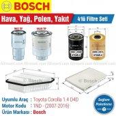 Toyota Corolla 1.4 D4d Bosch Filtre Bakım Seti (20...