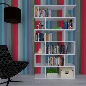 Nur Mobilya Ayza Modern Kitaplık Beyaz