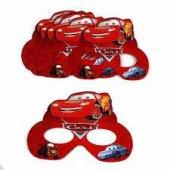 6 Adet Cars (Arabalar) Karton Gözlük Erkek Doğum Günü Parti Malze