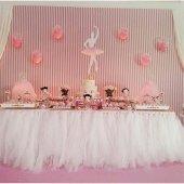 1 Adet Beyaz Masa Tütüsü (Eteği) 380x85 Cm Doğum Günü Parti Malze