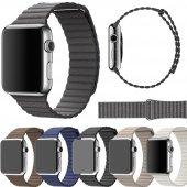 Apple Watch 2 3 4 38 Ve 40mm 42 Ve 44 Mm Leather Loop Kordon