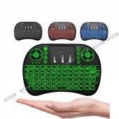 ışıklı Kablosuz Mini Klavye Smarttv Televizyon Ps3 Dokunmatik Mou