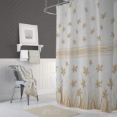 Zethome Jackline 9918 Kahverengi Banyo Duş Perdesi Çift Kanat 2x1