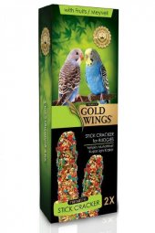 Gold Wings Premium Muhabbet Kuşlari İçin Meyveli Kraker 2li