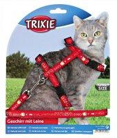 Trixie Kedi Göğüs Tasma Ve Gezdirme Seti Kırmızı 25 44cm 10mm