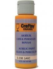 Craftsy Enamel Akrilik Cam Ve Porselen Boyası E 338 Sarı