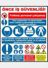 At 1194 Önce İş Güvenliği Genel Kurallar Tabelası
