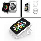 Apple Watch 42 Mm Kılıf Sert Silikon Tasarım Şeffaf