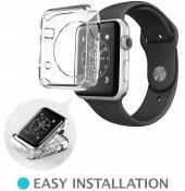 Apple Watch 38 Mm Kılıf Tpu Silikon Tasarım Şeffaf