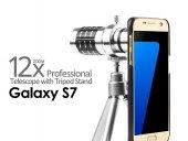 Samsung S7 Birebir Kılıflı 12x Zoom Teleskop Telefon Kamera Lensi