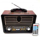Everton Nostaljik Antika Bluetooth Şarjlı Radyo Müzik Çalar Usb B
