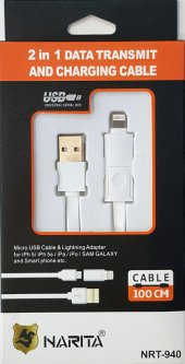 Narita 2in1 Apple Ve Android Uyumlu Usb Şarj Data Kablosu