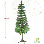 Yılbaşı Çam Ağacı 120 Cm Large Paket 103 Parça Süs 2 Mt Aydınlatm
