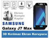 Samsung J7 Max 3d Komple Kapatan Kırılmaz Full Cam Ekran Koruyucu