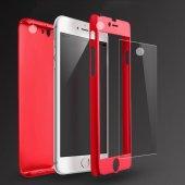 Iphone 7 360 Derece Sert Kılıf + Özel Kırılmaz Ekran Koruyucu