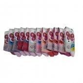 Ertuğ Kız Çocuk Çorap 12 Li Paket Asorti