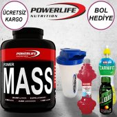 Powerlife Mass Gainer Karbonhidrat 2600 Gr (3 Hediye)