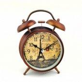 Eyfel Kulesi Temalı Retro Çalar Masa Saati
