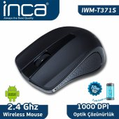 ınca Iwm T371 Siyah 2.4ghz Wıreless Nano Alıcılı �pil Hediyeli Mouse