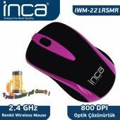 ınca Iwm 221rsmr 2.4 Ghz Inca Track Red Sensör Wıreless Nanı Alıcılı Mouse Mor